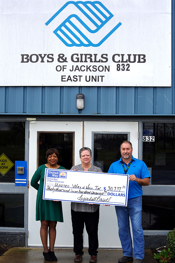 The Jackson site of LyondellBasell, one of the world's largest plastics, chemical and refining companies, recently announced donations totaling more than $31,212 to United Way of West Tennessee as part of its completed 2016 campaign